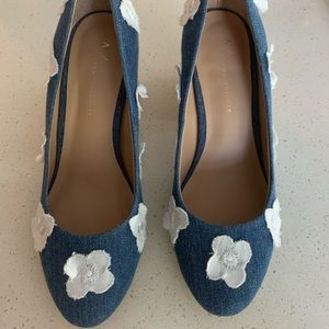 Anthropologie block heels,new